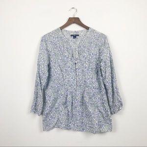 GAP Cotton Floral Tunic Blouse Shirt Large